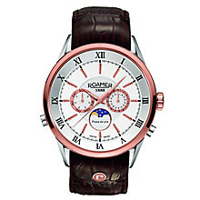 Roamer Men's Silver Dial Brown Leather Strap Watch - Product number 5837308