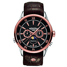 Roamer Men's Black Dial Brown Leather Strap Watch - Product number 5837316
