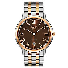 Roamer Men's Super Slender Two Tone Bracelet Watch - Product number 5837391