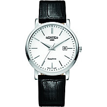 Roamer Men's White Dial Black Leather Strap Watch - Product number 5837448