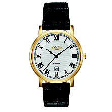 Roamer Classic Men's White Dial Black Leather Strap Watch - Product number 5837456