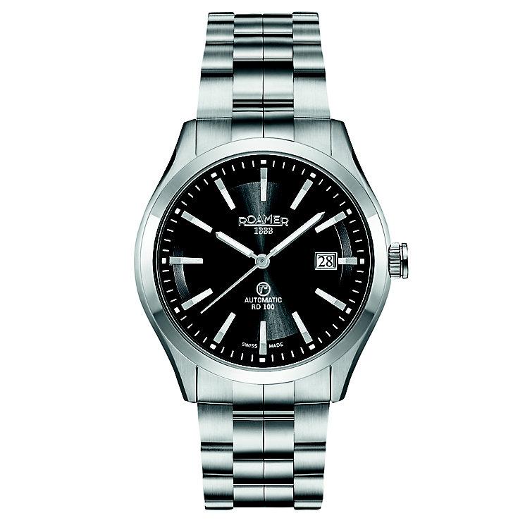 Roamer Men's Black Dial Stainless Steel Bracelet Watch - Product number 5837480