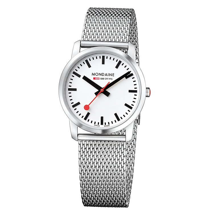 Mondaine Ladies' Stainless Steel Mesh Bracelet Watch - Product number 5837529