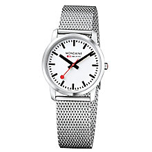 Mondaine Ladies' Stainless Steel Mesh Bracelet Watch - Product number 5837529