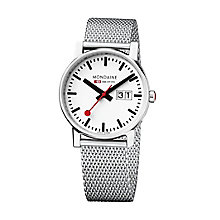 Mondaine Ladies' Stainless Steel Mesh Bracelet Watch - Product number 5837618