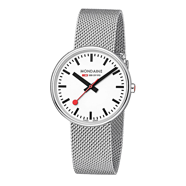 Mondaine Ladies' Stainless Steel Mesh Bracelet Watch - Product number 5837650