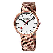 Mondaine Ladies' Rose Gold-Plated Mesh Bracelet Watch - Product number 5837677
