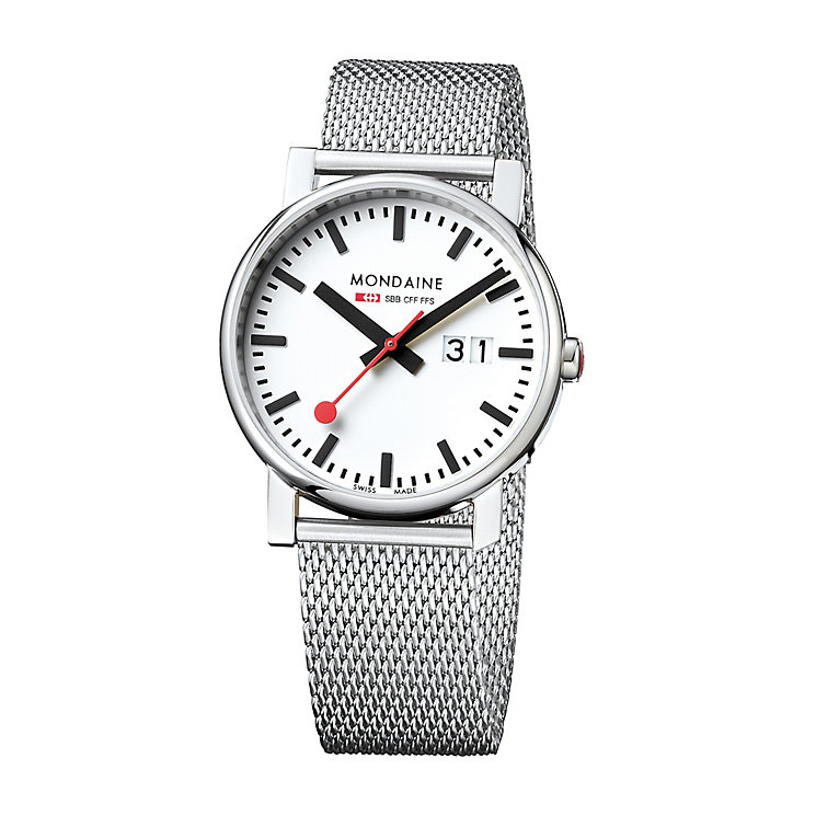 Mondaine Men's Stainless Steel Mesh Bracelet Watch - Product number 5837723