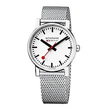 Mondaine Unisex Stainless Steel Mesh Bracelet Watch - Product number 5837790