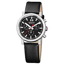 Mondaine Men's Multi Dial Black Leather Strap Watch - Product number 5837901