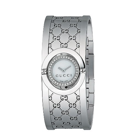 Gucci Twirl ladies' mother of pearl and 34 diamond watch