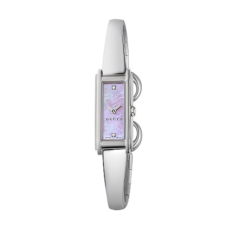 Gucci G Line ladies' pink mother of pearl and diamond watch