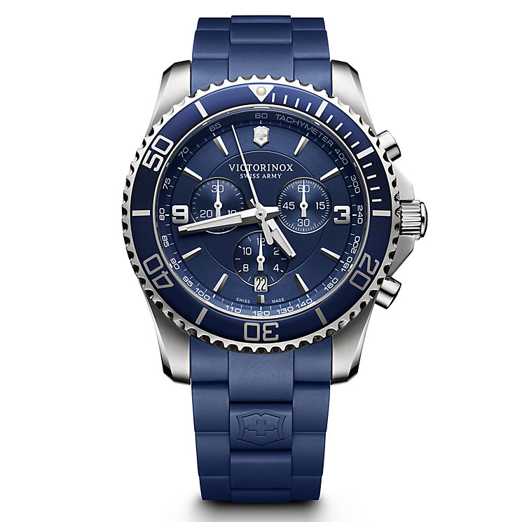 Victorinox Maverick Chronograph Men's Blue Rubber Watch - Product number 5838304