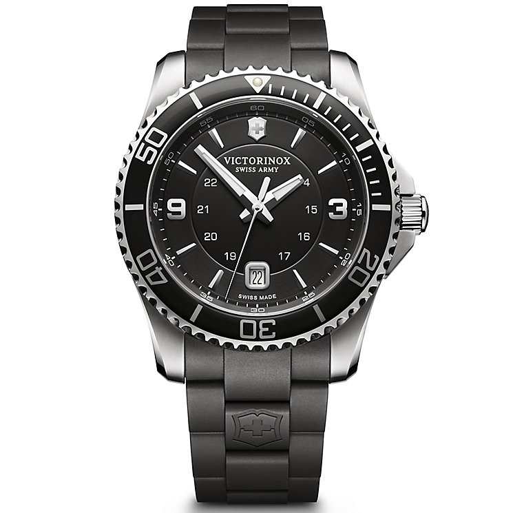 Victorinox Maverick Large Men's Black Rubber Watch - Product number 5838347