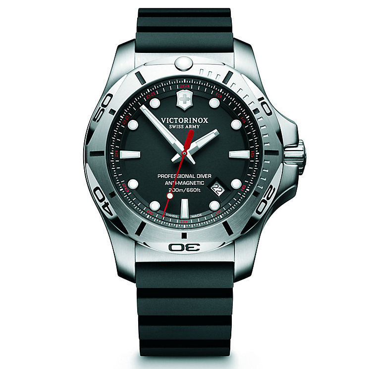Victorinox Professional Diver Men's Black Rubber Strap Watch - Product number 5838401