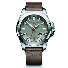 Victorinox I.N.O.X. Men's Brown Leather Strap Watch - Product number 5838460