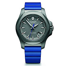 Victorinox I.N.O.X. Titanium Men's Blue Rubber Strap Watch - Product number 5838541