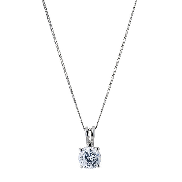 18ct White Gold 1ct G/H SI1 Diamond Pendant - Product number 5840368