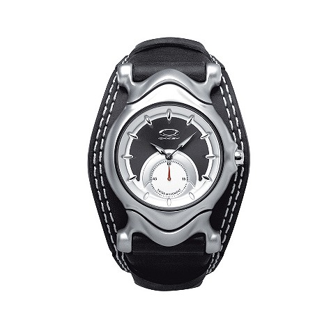 Oakley Jury ladies' black leather strap watch