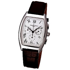 Frederique Constant men's black leather strap watch - Product number 5845149