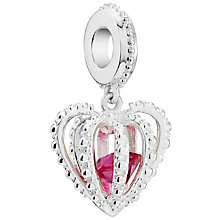 Exclusive Chamilia Crown Jewels Fuchsia Swarovski Charm - Product number 5845823