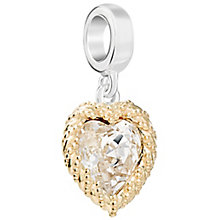 Chamilia Crystal Yellow Gold Plated Heart Bead - Product number 5846110
