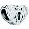 Chamilia Sterling Silver Keyhole Heart Bead - Product number 5853680