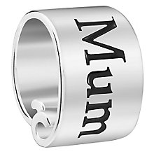 Chamilia Sterling Silver Banner Best Mum Bead - Product number 5853745