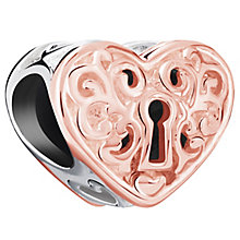 Chamilia Rose Gold Electroplate Keyhole Heart Bead - Product number 5853761