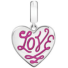 Chamilia Sterling Silver Floral Engraved Love Charm - Product number 5853834