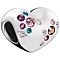 Chamilia Sterling Silver Multi Crystal Cluster Heart Bead - Product number 5853907