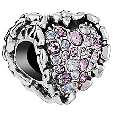 Chamilia Sterling Silver Amethyst Ruffled Heart Bead - Product number 5853923