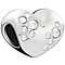 Chamilia Sterling Silver Crystal Cluster Heart Bead - Product number 5853982
