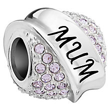 Chamilia Sterling Silver Violet Mum Banner Bead - Product number 5854040
