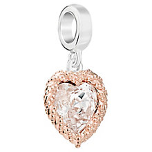 Chamilia Rose Gold Electroplate Crystal Heart Charm - Product number 5854121
