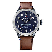 Tommy Hilfiger Gent's Brown Leather Strap Smart Watch - Product number 5854954