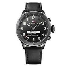 Tommy Hilfiger Black Leather Strap Smart Watch - Product number 5854962
