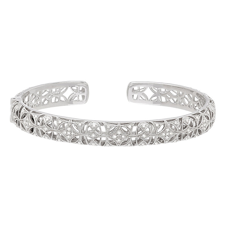 Neil Lane 14ct White Gold 0.31ct Diamond Bangle - Product number 5854970