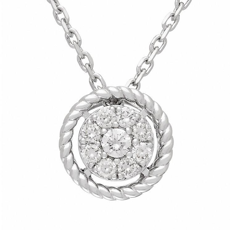 Neil Lane 14ct White Gold 18pt diamond cluster pendant - Product number 5855004