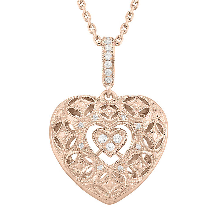 Neil Lane Designs 14ct Rose Gold 0.11ct Diamond Pendant - Product number 5855063