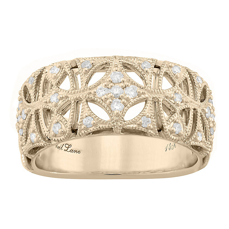Neil Lane Designs 14ct Yellow Gold 0.16ct Diamond Band - Product number 5856930