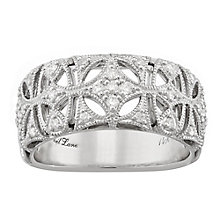 Neil Lane Designs 14ct White Gold 0.16ct Diamond Band - Product number 5857333