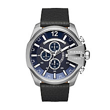 Diesel Gent's Black Leather Strap Watch - Product number 5862973