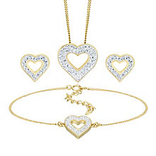 Evoke Sterling Yellow Gold Plated Heart Jewellery Set - Product number 5864690