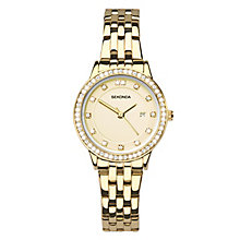 Sekonda Ladies' Gold Plated Stainless Steel Bracelet Watch - Product number 5865786