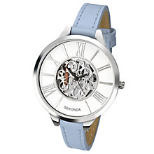 Sekonda Ladies' White Dial Blue Leather Strap Watch - Product number 5865913