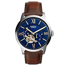 Fossil Gent's Brown Leather Strap Watch - Product number 5866030