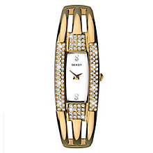 Seksy Ladies' Gold Plated Bracelet Watch - Product number 5866073