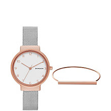 Skagen Ladies' Mesh Strap Watch and Bracelet Set - Product number 5866111