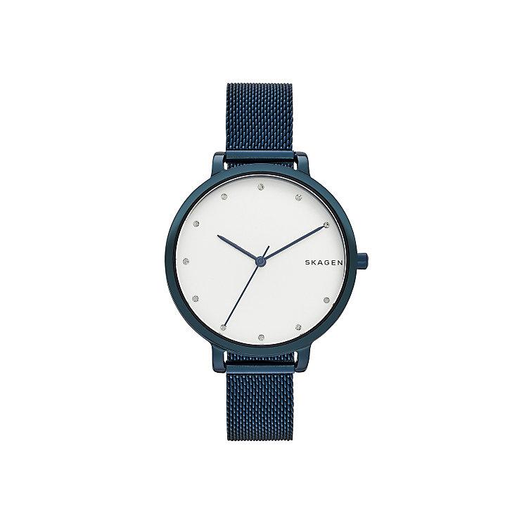 Skagen Ladies' Blue Mesh Strap Watch - Product number 5866138